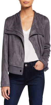 Bagatelle Faux-Suede Drape Jacket