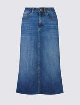 Marks and Spencer Dark Pocket Midi Skirt