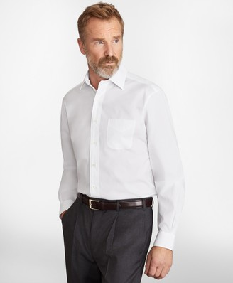 Brooks Brothers Madison Classic-Fit Dress Shirt, Performance Non-Iron with COOLMAX, Ainsley Collar Broadcloth