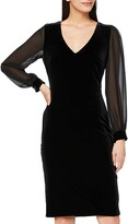Thumbnail for your product : Gina Bacconi Women's Velvet Dress with Chiffon Sleeves Cocktail