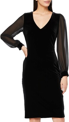 Gina Bacconi Women's Velvet Dress with Chiffon Sleeves Cocktail