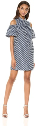 Trina Turk Trina Women's Cali Cold Shoulder Shirt Dress