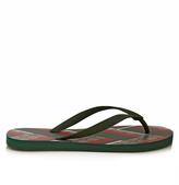 Gucci GG Supreme Chevron-print flip-flops