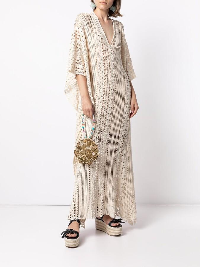 Bambah Crochet Kaftan Dress