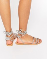 Asos FELICITY Leather Tie Leg Sandals