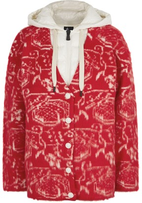 Moncler Red Wool-blend Cardigan