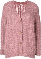 Miu Miu V-neck cable knit cardigan