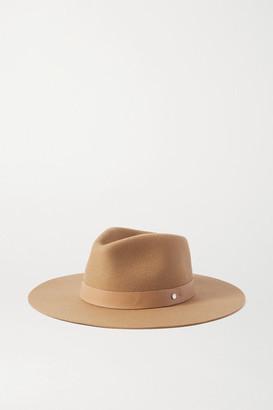 Rag & Bone Kacy Leather-trimmed Wool-felt Fedora - Camel