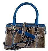 Cashhimi Glendale Genuine Python Shoulder Bag.