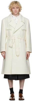 Maison Margiela Off-White Wool Coat