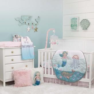 NoJo Girls Sugar Reef Mermaid 4 Piece Crib Bedding Set