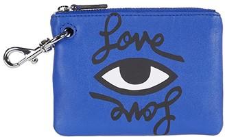 Rebecca Minkoff Clip Pouch - Love Eye (Bright Blue) Handbags