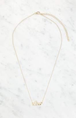 La Hearts Leo Script Sign Necklace
