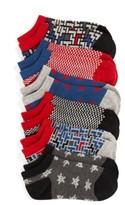 Tucker + Tate Boy's Digital Alien 6-Pack Lowcut Socks
