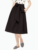 Kate Spade Slub cotton midi skirt