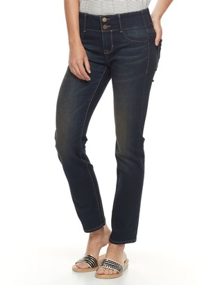 Apt. 9 Petite Tummy Control Straight-Leg Jeans