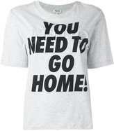 Kenzo You need to go home print T-shirt - women - Cotton - XS