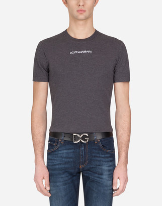 Dolce & Gabbana Cotton T-Shirt With Embroidery