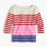 J.Crew Girls' multistripe boatneck T-shirt