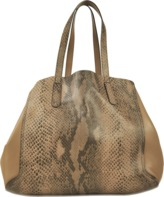 Gerard Darel Tote Simple Two in Reversible Calfskin embossed Python