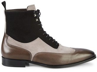 Mezlan 18769 Leather Suede Wingtip Boots