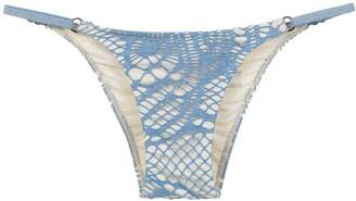 Track & Field Printed Bikini Bottoms