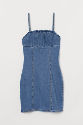 H&M Denim bodycon dress