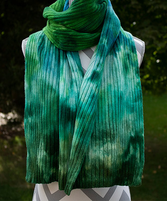 Zen Yarn Garden Women's Accent Scarves - Under The Sea Hand-Dyed Double-Ribbed Scarf