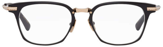 Dita Black and Gold Matte Union Glasses