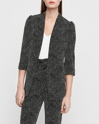 Express Dotted Shawl Collar Boyfriend Blazer