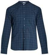 Boglioli Band-collar checked cotton shirt