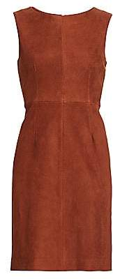 The Row Women's Hara Sleeveless Suede Shift Dress