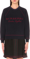 Burberry Logo-embroidered wool and cashmere-blend jumper