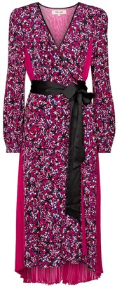Diane von Furstenberg Ariadne printed silk crepe de chine midi dress