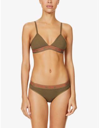 Calvin Klein One stretch cotton-blend jersey triangle bra