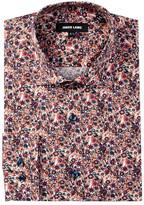 Jared Lang Floral Trim Fit Dress Shirt