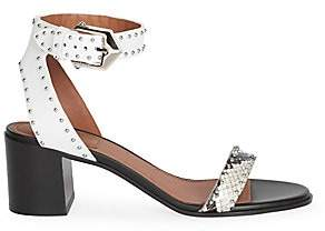 Givenchy Women's Studded Snakeskin & Leather Sandals