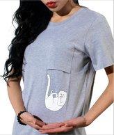 UR Ladies Teen Girls Cute Alien Crop Top Women Slim Tees Short Sleeve T-Shirt L