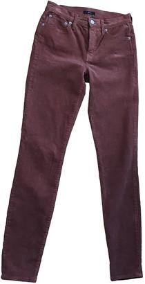 J.Crew Brown Cotton - elasthane Jeans for Women