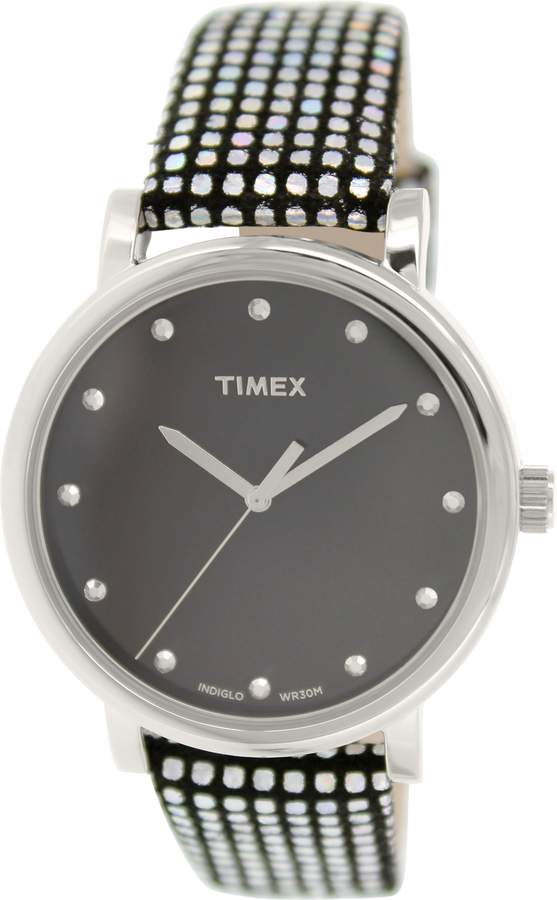 Timex Women's Originals T2P481 Leather Quartz Watch