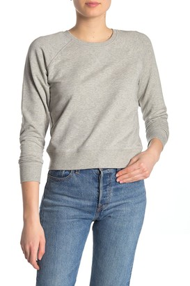 Madewell Solid Raglan Fleece Lined Sweatshirt (Regular & Plus Size)