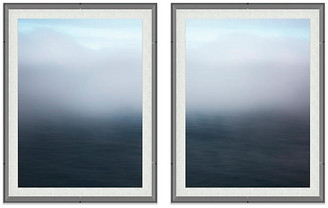 "One Kings Lane Alex Hoerner - Big Sur Seascape Acrylic Diptych Art - 10""L X 8""W"