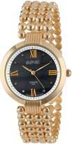 August Steiner Women's AS8065YG Diamond Swiss Quartz Bracelet Watch