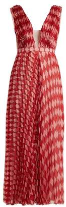 Raquel Diniz Alexa Harlequin Print Gown - Womens - Red Print