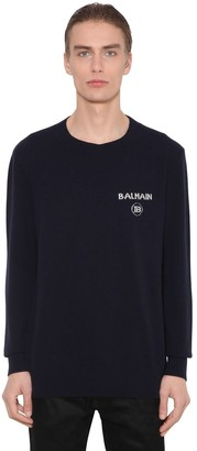 Balmain Cashmere & Wool Knit Sweater