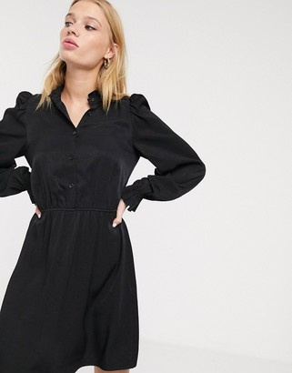 And other stories & peterpan collar mini dress in black
