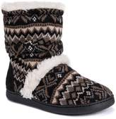 Muk Luks Holly Knit Faux Fur Lined Slipper Bootie