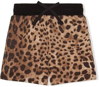 Dolce & Gabbana Kids Leopard Pattern Shorts