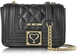 Love Moschino Black Quilted Eco Leather Shoulder Bag