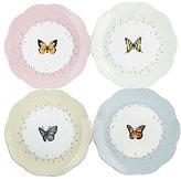 Lenox Butterfly Meadow Porcelain Dessert Plates, Set of 4